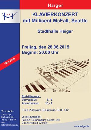 c Haiger Plakat Klavierkonzert Millicent McFall 300x426 Klavierkonzert: Millicent McFall in Haiger