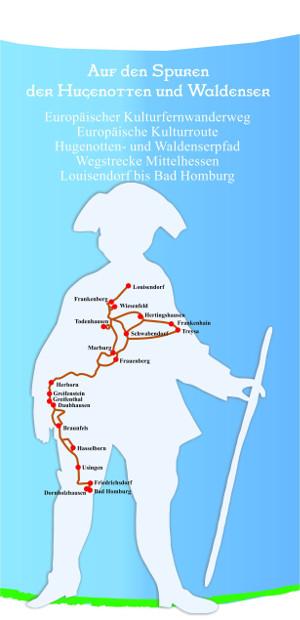 c Hugenotten Waldenserpfad Titelblatt Routenführer Routenführer Frankenau – Bad Homburg
