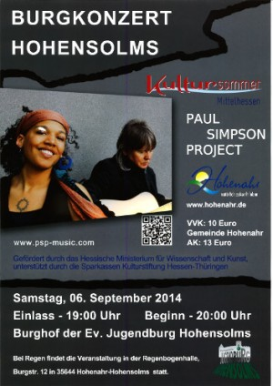 c Jugendburg Hohensolms Kultursommer 300x424 Paul Simpson Project – Kultursommer Mittelhessen