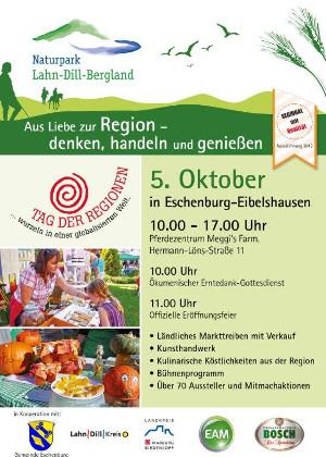 c Lahn Dill Bergland Handzettel TdR Tag der Regionen am 5. Oktober 2014 in Eschenburg