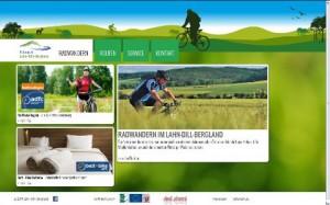 c Lahn Dill Bergland Internet Screenshot 300x187 Radbroschüre und neue Internetseite informieren über ADFC RadReiseRegion