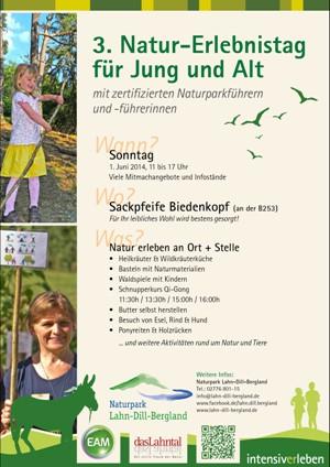 c Naturpark Lahn Dill Bergland Naturerlebnistag Flyer 3. Naturerlebnistag im Naturpark Lahn Dill Bergland