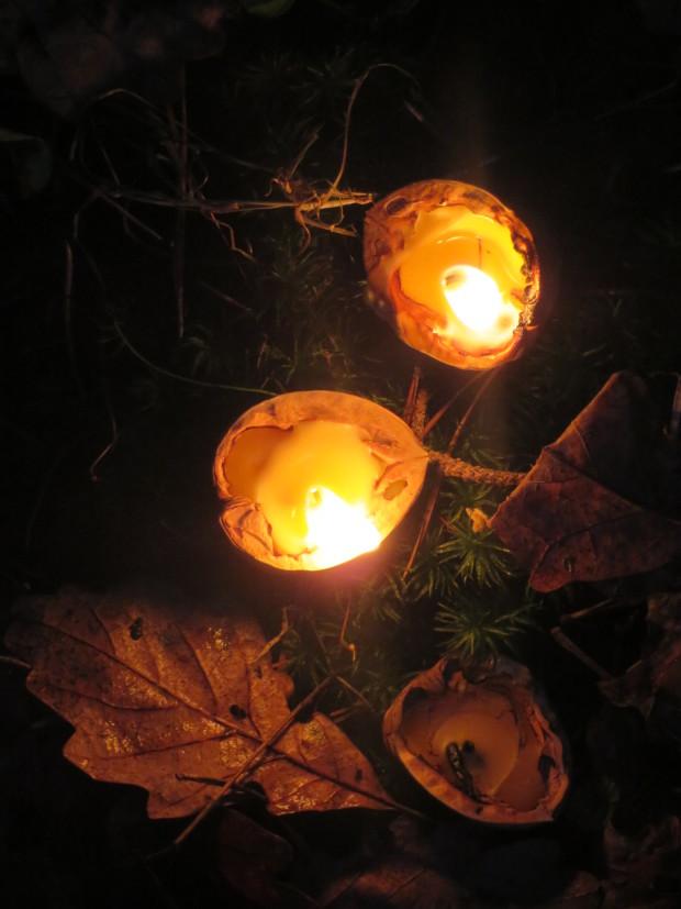 Nußkerzen c Sibylle Susat 620x827 Schöne Lichter