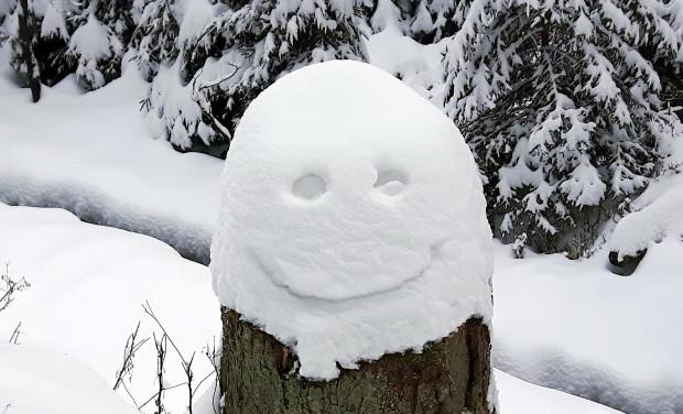 Schneegesicht c Sibylle Susat 620x376 Schneelächeln
