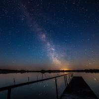 Nachthimmel mit Steg ©Sebastian Kartheuser