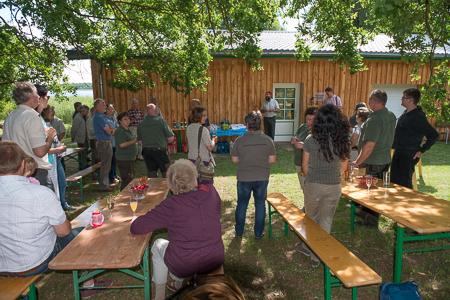 Ortkrug Eröffnung klein 5037 Naturschutzstation Auf dem Ortkrug eröffnet