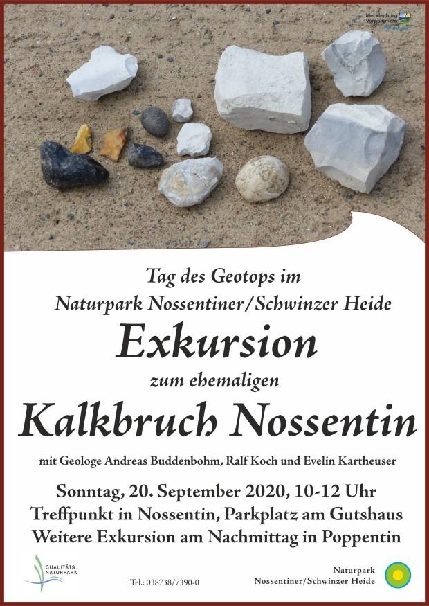 Plakat Geotop KalkbergNossentin 2020 620x875 Tag des Geotops 2020 im Malchower Kreidebezirk