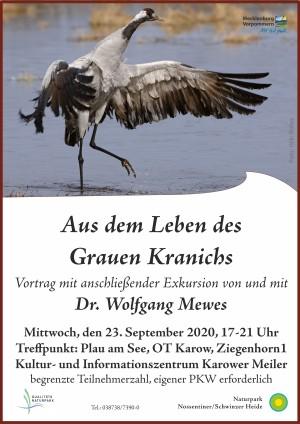 Plakat Kraniche2020