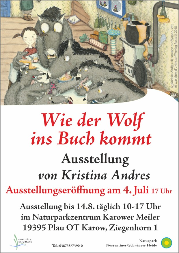 Plakat Andres2 620x876 Neue Ausstellung: Wie der Wolf ins Buch kommt. Eröffnung am 4.7.
