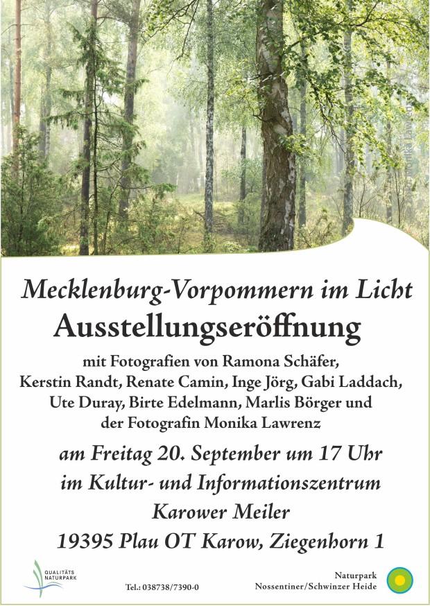 Plakat Fotoausstellungseröffnung2019web 620x874 Mecklenburg Vorpommern im Licht   Ausstellungseröffnung am Freitag, 20.9.