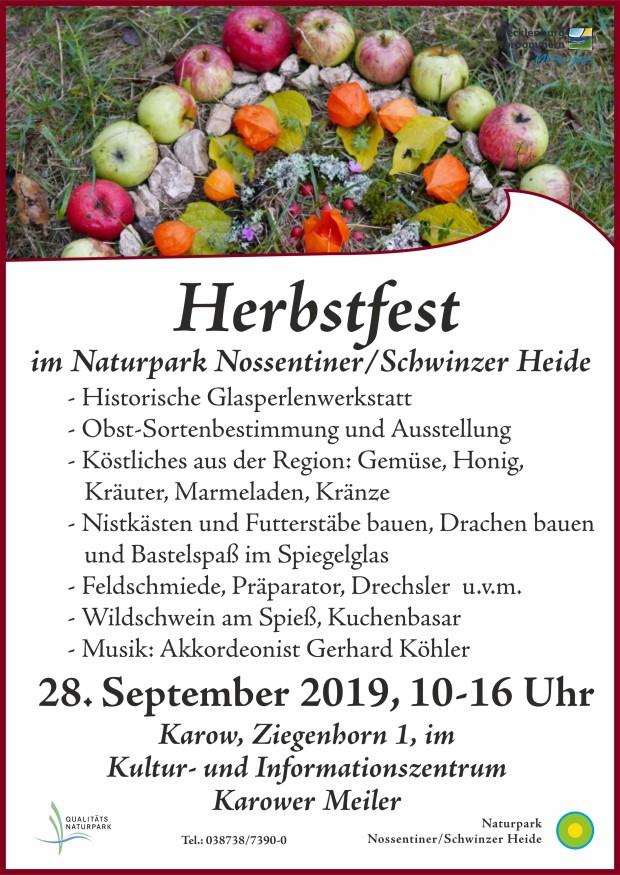 Plakat Herbstfest 20191 620x875 Herbstfest am 28.9.2019 mit vielen Angeboten