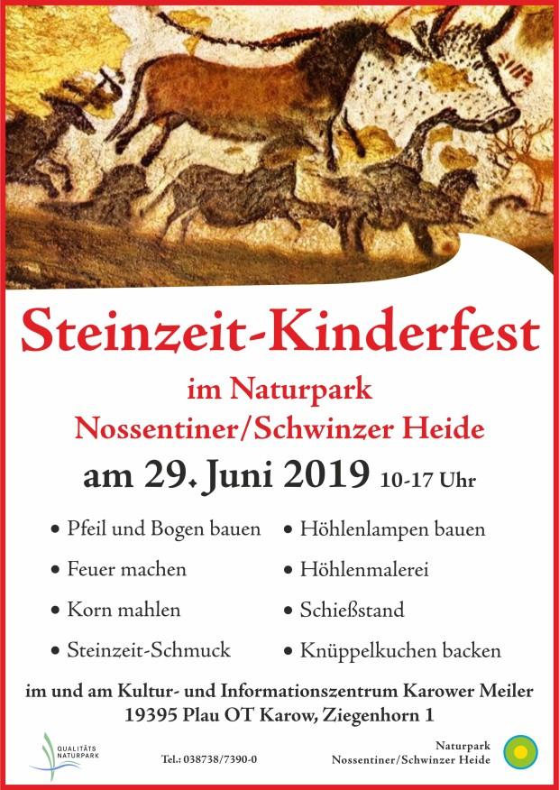 Plakat Kinderfest2019 620x876 Naturparkzentrum wird zum Steinzeitdorf
