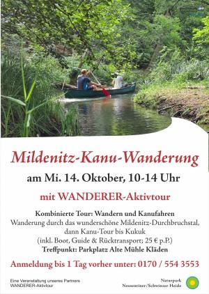 Plakat_Mildenitz-Kanutour