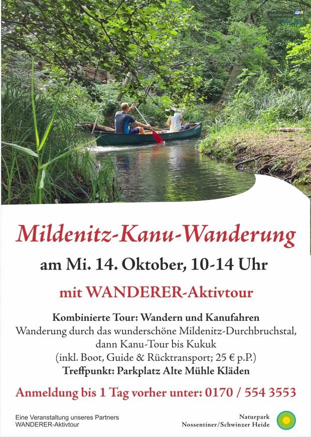 Plakat Mildenitz Kanutour 620x872 Mildenitz Kanuwanderung am 14. Oktober