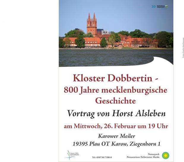 Plakat Vortrag Kloster Dobbertin 620x547 Kloster Dobbertin   800 Jahre mecklenburgische Geschichte