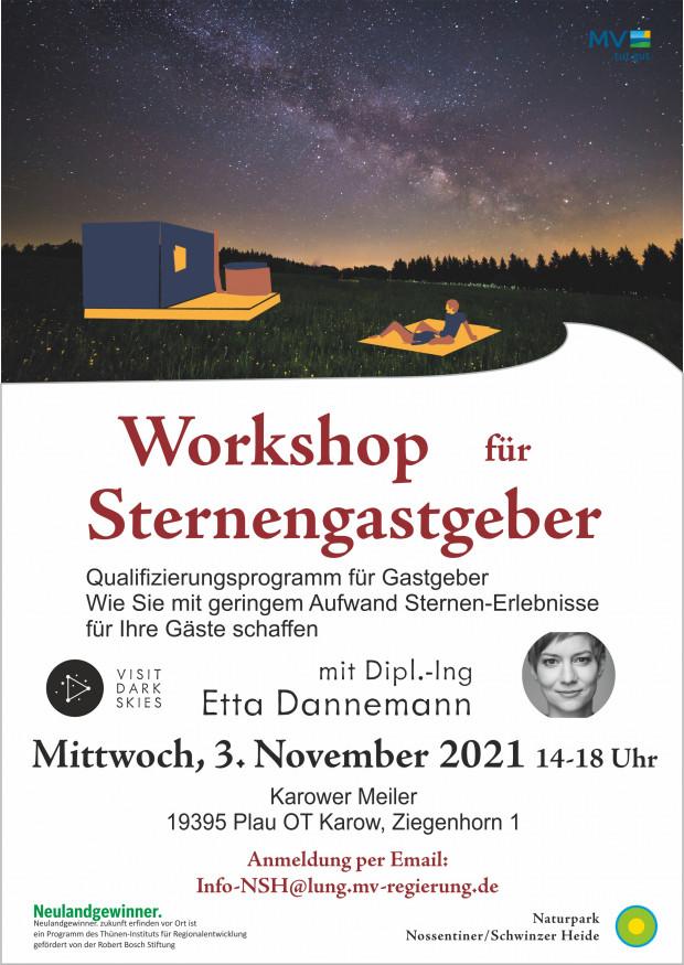 Plakat Workshop Sternengastgeber 620x875 Der Sternenpark als Chance für die Region   Workshop für Gastgeber