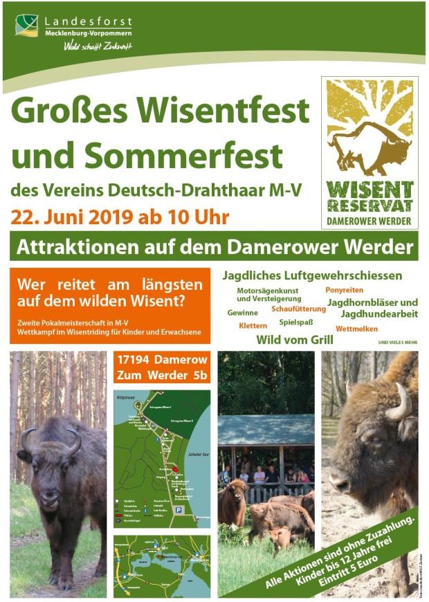 Wisentfest2019 620x870 Großes Wisentfest und Sommerfest im Wisentreservat Damerower Werder