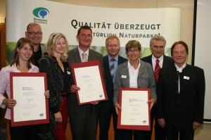 Auszeichnung010 300x199 Auszeichnung für den Naturpark Oberer Bayerischer Wald