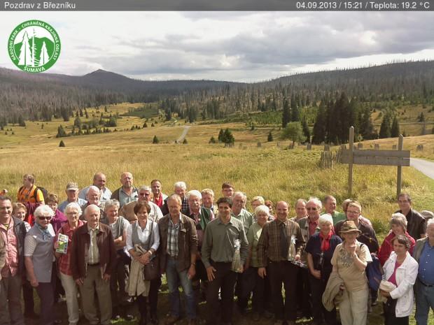 Reisegruppe Hintergrund Lusen 620x465 Jahresausflug führte in den Nationalpark Šumava