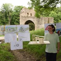 Präsentation der Entwürfe zur Gestaltung der Mapper Schanze durch Studenten der FH Holztechnik und Gestaltung Hildesheim ©Andreas Wennemann