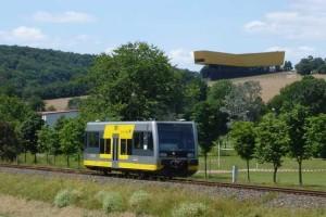 Unstutbahn bei Wangen - Arche Nebra