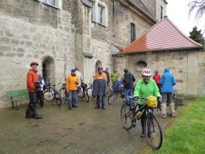 Fahrradtour Thüringer Grenzübertritt an der Krypta Klosterhäseler