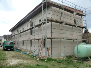 Fassadensanierung am Dorfgemeinschaftshaus Baumersroda 300x225 LEADER aktuell   LAG Naturpark Saale Unstrut Triasland