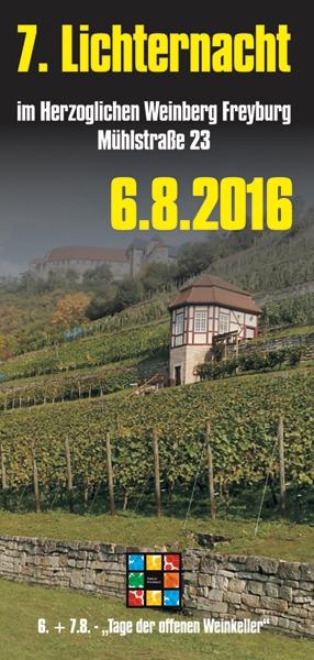 Neues Bild Vorankündigung: 7. Lichternacht im Herzoglichen Weinberg in Freyburg (Unstrut)   Großveranstaltung