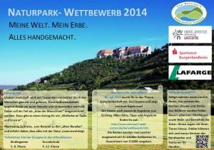 Plakat 300x211 Meine Welt, mein Erbe: Alles handgemacht. Neuigkeiten zum Geo Naturpark Wettbewerb