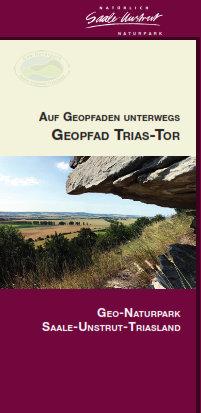 """In unserer Reihe """"Auf Geopfaden unterwegs"""" erschien zum Jahresbeginn der passende Flyer """"Trias Tor"""", erhältlich im Naturpark oder in den einschlägigen Tourismusbüros der Region."""