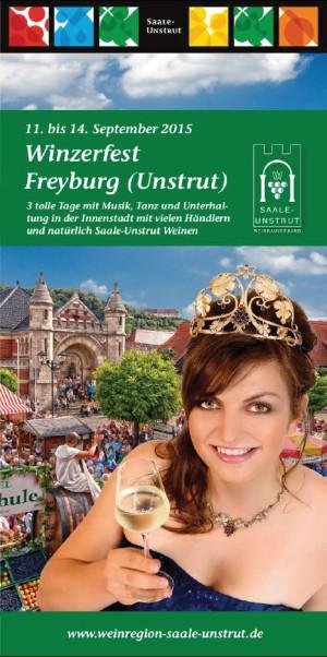Winzerfest Flyer 2015 300x602 Winzerfest im Herzoglichen Weinberg/ Freyburg (Unstrut)