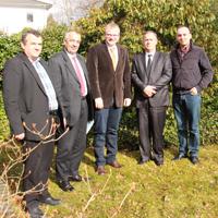Kosovo Delegation v.l.n.r.: Fadil Bytyqi, Shefqet Kryeziu, Detlef Lins, Ragip Begaj sowie der Dolmetscher/Foto: Naturpark Sauerland-Rothaargebirge Georg Schmitz