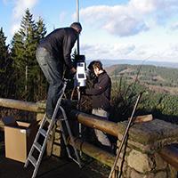 Aufbau Wetterstation an der Hohen Barcht
