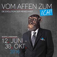"""Sonderausstellung """"Vom Affen zum ICH"""" öffnet am 12. Juni im Südsauerlandmuseum in Attendorn (Plakat: Südsauerlandmuseum)."""