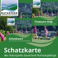Endlich ist sie da – die Schatzkarte des Naturparks Sauerland Rothaargebirge! Und nun auch in niederländischer und englischer Fassung! (Foto: Naturpark Sauerland Rothaargebirge e.V.)