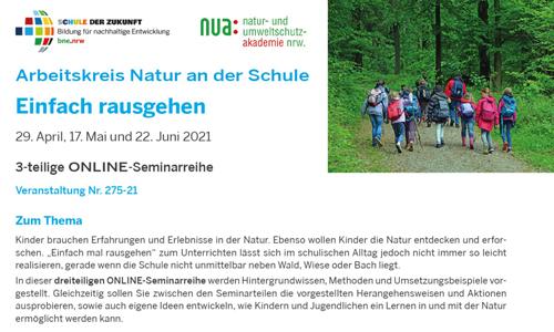 """Flyer NUA Veranstaltung1 """"Einfach mal rausgehen"""""""