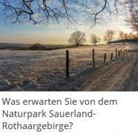 Studentin führt Online-Umfrage zu den Erwartungen gegenüber dem Naturpark Sauerland-Rothaargebirge durch (Foto: NPSR)