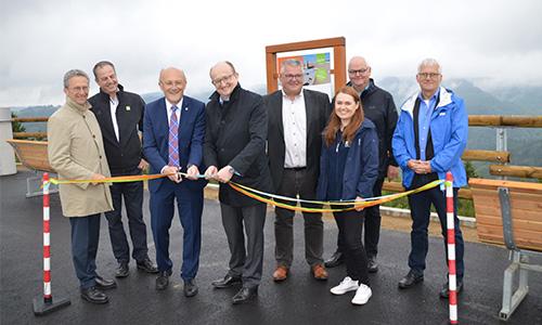 Foto Innenteil oberbecken Eröffnung des Rundweges um das Pumpspeicherwerk Rönkhausen