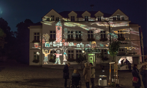Foto leuchtender Adventskalender Dicke Innenteil 1. bis 24. Dezember: Leuchtender Adventskalender
