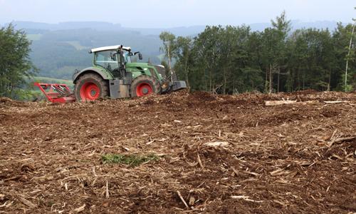 Gemulchte Fläche Innen c NPSR Gemeinsames Aufforstungsprojekt mit der Firma Metten in Attendorn