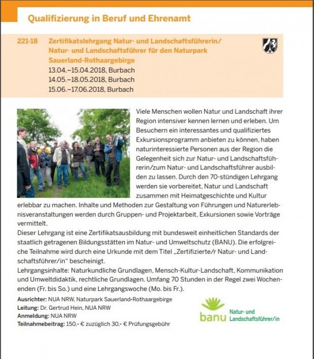NUA 620x707 Zertifikatslehrgang  Natur  und Landschaftsführer für den Naturpark  Sauerland Rothaargebirge
