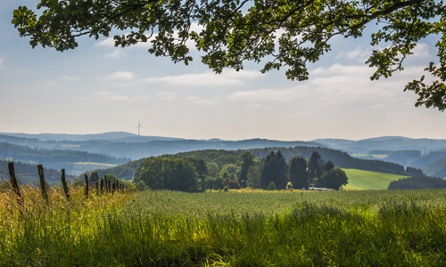 Panorama Ebbegebirge bei Herscheid c Simone Rein Innen 24. Oktober: Waldlandschaften im Ebbegebirge