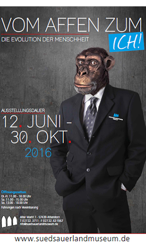 Plaket 12.06.2016: Vom Affen zum ICH   neue Ausstellung im Südsauerlandmuseum