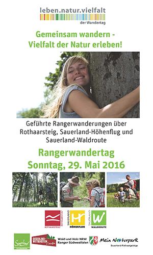 Rangerwandertag Rangerwandertag am 29. Mai 2016: Kooperation wird fortgeführt