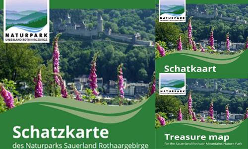 Schatzkarte 3sprachig quer Neue Printmedien aus dem Naturpark