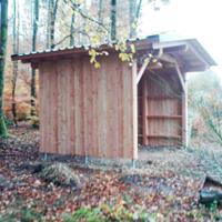 Schutzhütte am Kaukenberg (Foto: NPSR)