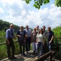 Das Team des Naturparks Sauerland-Rothaargebirge auf der Mahlscheid bei Neunkirchen/Siegerland/Foto: Werner Koch