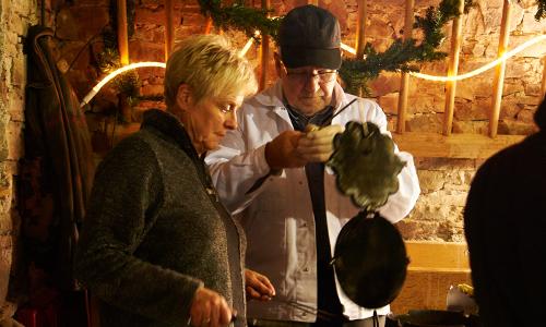 Waffeln beitrag 10./11. Dezember: Weihnachtlicher Hüttenzauber