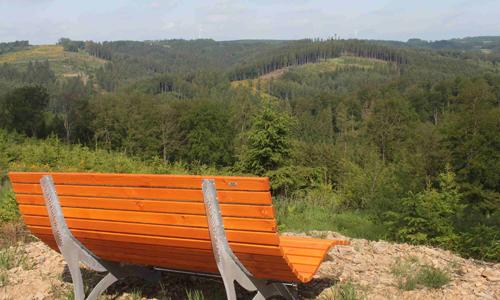 Waldaktivpfad Bank innen Waldaktivpfad in Meinerzhagen Heed eröffnet