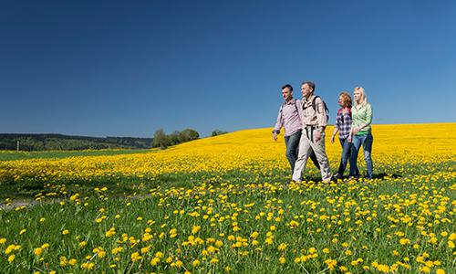 Wandergruppe im Frühling 20.   27. April 2016: Frühlingswanderwoche der Sauerländer Wandergasthöfe